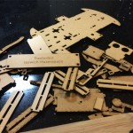 Lasercut parts ready for assembly