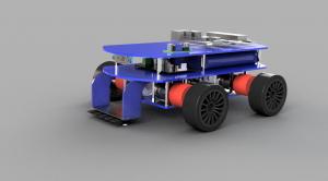 Line sensor PCB mounted to chassis